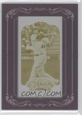 2012 Topps Gypsy Queen Printing Plate Minis Yellow Framed #34 - Mark Trumbo /1