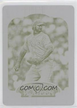 2012 Topps Gypsy Queen Printing Plate Yellow #279 - Jeff Niemann /1