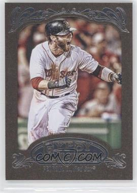 2012 Topps Gypsy Queen Retail [Base] Gold Paper Frame #143 - Dustin Pedroia