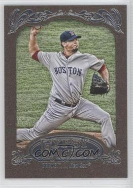 2012 Topps Gypsy Queen Retail [Base] Gold Paper Frame #174 - Josh Beckett