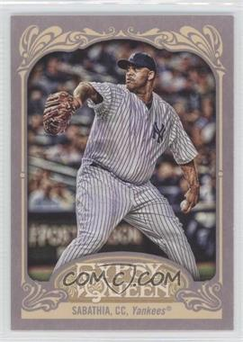2012 Topps Gypsy Queen #150.2 - CC Sabathia (Pinstripe Uniform)
