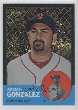 2012 Topps Heritage - [Base] - Chrome Black Refractor #HP3 - Adrian Gonzalez /63