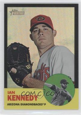 2012 Topps Heritage - [Base] - Chrome Black Refractor #HP47 - Ian Kennedy /63