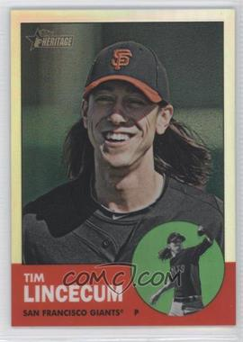 2012 Topps Heritage - [Base] - Chrome Refractor #HP52 - Tim Lincecum /563