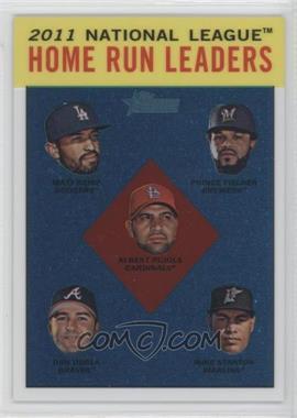2012 Topps Heritage - [Base] - Chrome #HP93 - National League Home Run Leaders (Matt Kemp, Prince Fielder, Albert Pujols, Dan Uggla, Mike Stanton) /1963