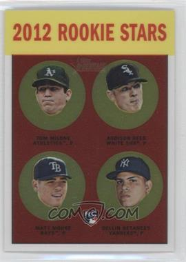 2012 Topps Heritage - [Base] - Chrome #HP99 - Tom Milone, Addison Reed, Matt Moore, Dellin Betances /1963