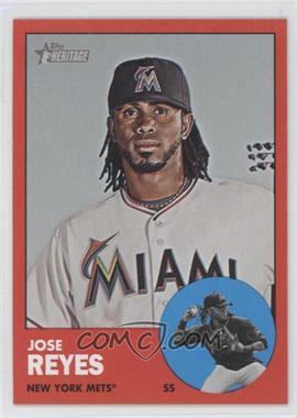 2012 Topps Heritage - [Base] #174.2 - Jose Reyes (Target Red)