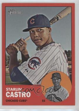 2012 Topps Heritage - [Base] #193.3 - Starlin Castro (Target Red)
