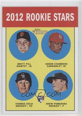 2012 Topps Heritage - [Base] #208 - Brett Pill, Adron Chambers, Drew Pomeranz, Thomas Field