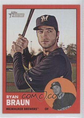 2012 Topps Heritage - [Base] #276.3 - Ryan Braun (Target Red)