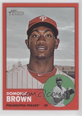 2012 Topps Heritage - [Base] #32.2 - Domonic Brown (Target Red)