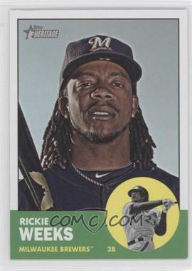 2012 Topps Heritage - [Base] #433 - Rickie Weeks