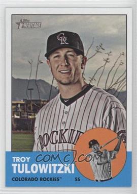 2012 Topps Heritage - [Base] #453.1 - Troy Tulowitzki (Base)