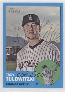 2012 Topps Heritage - [Base] #453.3 - Troy Tulowitzki (Wal-Mart Blue)
