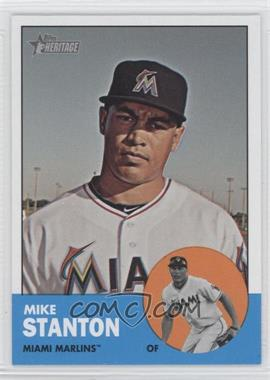 "2012 Topps Heritage - [Base] #483.3 - Mike Stanton (Error: Run Stat Listed as ""W"")"