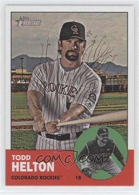 2012 Topps Heritage - [Base] #484.1 - Todd Helton (Base)