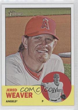 2012 Topps Heritage - [Base] #497.1 - Jered Weaver (Base)