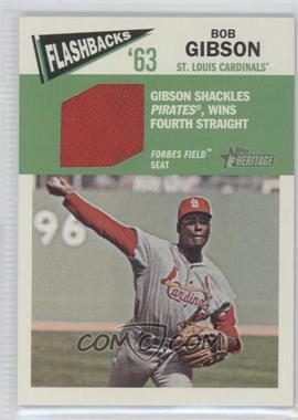 2012 Topps Heritage - Baseball Flashbacks - Stadium Relics #FR-BG - Bob Gibson