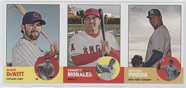 2012 Topps Heritage - Boxloader Ad Panel #BDKMMP - Blake DeWitt, Kendrys Morales, Michael Pineda