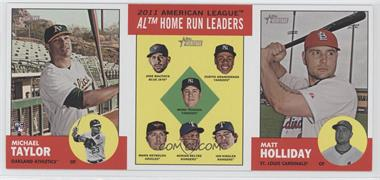 2012 Topps Heritage - Boxloader Ad Panel #MTHRMH - Michael Taylor, Jose Bautista, Curtis Granderson, Mark Teixeira, Mark Reynolds, Adrian Beltre, Ian Kinsler, Matt Holliday