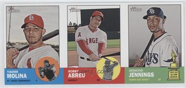 2012 Topps Heritage - Boxloader Ad Panel #YMBADJ - Yadier Molina, Bobby Abreu, Desmond Jennings