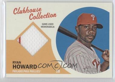 2012 Topps Heritage - Clubhouse Collection Relic #CCR-RHO - Ryan Howard