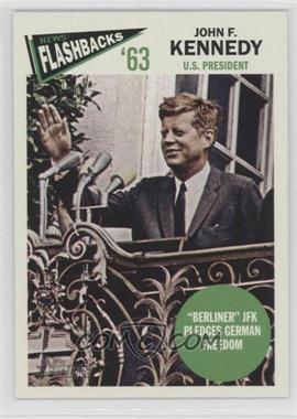 2012 Topps Heritage - News Flashbacks #NF-JKE - John F. Kennedy