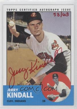 2012 Topps Heritage - Real One Certified Autographs - Special Edition Red Ink #ROA-JK - Jerry Kindall /65