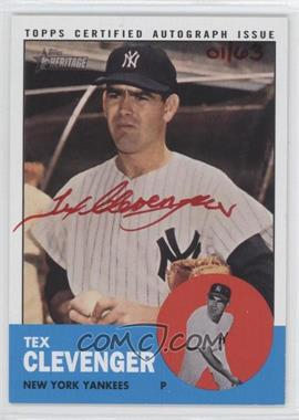 2012 Topps Heritage - Real One Certified Autographs - Special Edition Red Ink #ROA-TC - Tex Clevenger