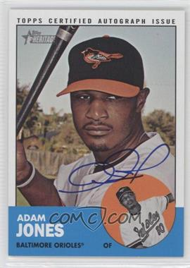 2012 Topps Heritage - Real One Certified Autographs #ROA-AJ - Adam Jones