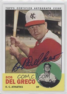 2012 Topps Heritage - Real One Certified Autographs #ROA-BD - Bob Del Greco