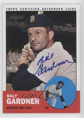 2012 Topps Heritage - Real One Certified Autographs #ROA-BGA - Billy Gardner