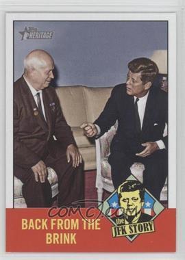 2012 Topps Heritage - The JFK Story #JFK7 - John F. Kennedy, Nikita Khrushchev