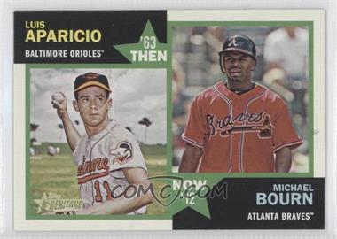 2012 Topps Heritage - Then and Now #TN-AB - Luis Aparicio, Michael Bourn