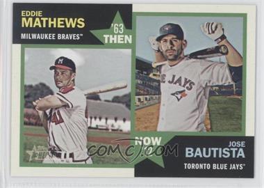 2012 Topps Heritage - Then and Now #TN-MB - Eddie Mathews, Jose Bautista