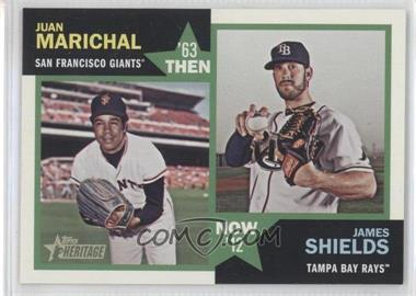 2012 Topps Heritage - Then and Now #TN-MS - Juan Marichal, James Shields