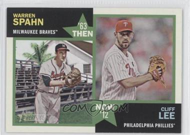 2012 Topps Heritage - Then and Now #TN-SL - Warren Spahn, Cliff Lee
