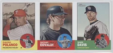 2012 Topps Heritage Advertising Panels #161 - Placido Polanco, Nathan Eovaldi, Wade Davis