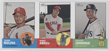 2012 Topps Heritage Advertising Panels #YMBADJ - Yadier Molina, Bobby Abreu, Derek Jeter