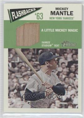 2012 Topps Heritage Baseball Flashbacks Stadium Relics #FR-MMA - Mickey Mantle