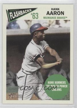 2012 Topps Heritage Baseball Flashbacks #BF-HA - Hank Aaron