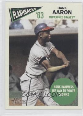 2012 Topps Heritage Baseball Flashbacks #BF-HA - Hank Aaron