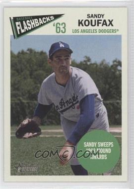 2012 Topps Heritage Baseball Flashbacks #BF-SK - Sandy Koufax