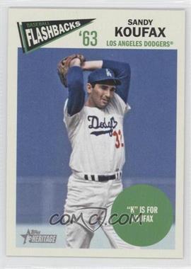 2012 Topps Heritage Baseball Flashbacks #BF-SKO - Sandy Koufax
