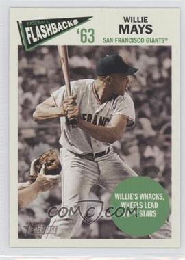 2012 Topps Heritage Baseball Flashbacks #BF-WM - Willie Mays