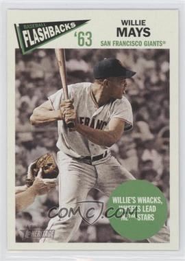 2012 Topps Heritage Baseball Flashbacks #BF-WM - Willie Mays