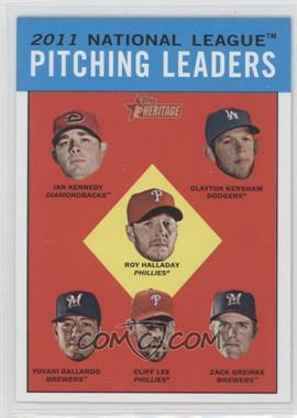 2012 Topps Heritage Black #HP94 - Roy Halladay, Ian Kennedy, Clayton Kershaw, Yovani Gallardo, Cliff Lee, Zack Greinke