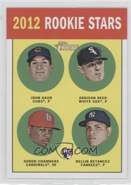 2012 Topps Heritage Black #HP96 - Addison Reed, Adron Chambers, Dellin Betances