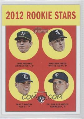 2012 Topps Heritage Black #HP99 - Tom Milone, Addison Reed, Matt Moore, Dellin Betances