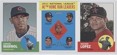 2012 Topps Heritage Boxloader Ad Panel #CMHRWL - Carlos Marmol, Matt Kemp, Prince Fielder, Albert Pujols, Dan Uggla, Mike Stanton, Wilton Lopez